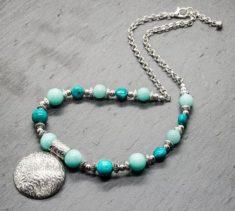 Turquoise & Aqua Jade Necklace