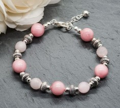 Rose Quartz & Pink Jade Bracelet