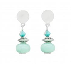Amazonite & Swarovski Crystal Stud Earrings