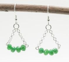 Sterling Silver & Green Kyanite Earrings