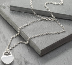 Sterling Silver Chunky Heart Pendant